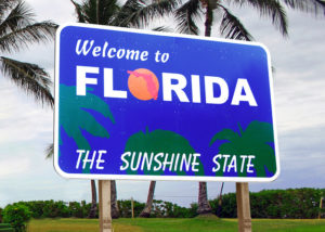 state-sign-florida-sunshine-state