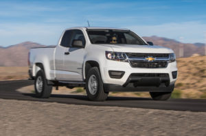 2015-Chevrolet-Colorado-WT-25-front-side-view-on-road